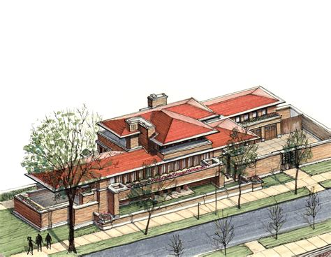 Robie House by Gallery Of 20 Beautiful Axonometric Drawings Of Iconic