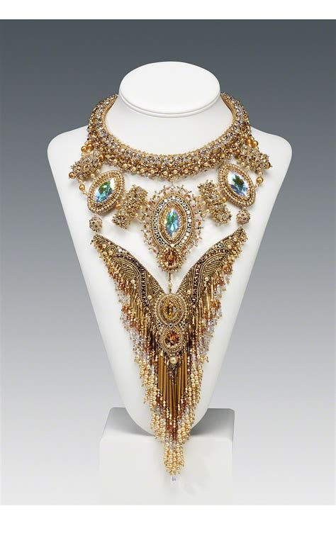 beading dreams jewelry design bib style necklace with seed