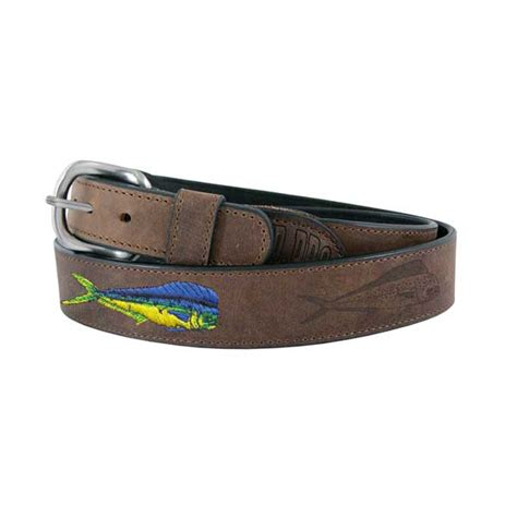 west marine s all leather dolphin fish belt west marine
