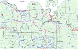 Michigan Snowmobile Trail Map by Michigan Snowmobiling Munising Au Train Snowmobile Trail
