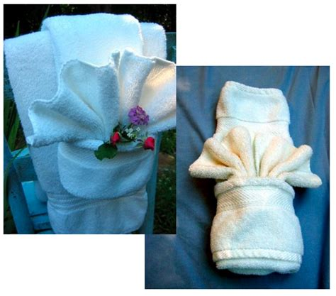 Bath Towel Origami - how to fancy towel folding wedding the guest and
