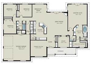4 Bedroom Floor Plans by Country Style House Plan 4 Beds 3 Baths 2563 Sq Ft Plan