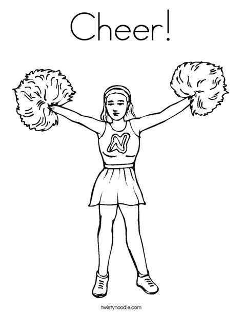cheerleading coloring pages for kids az coloring pages