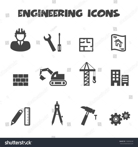 Blueprint Of House by Engineering Icons Mono Vector Symbols Stock Vector