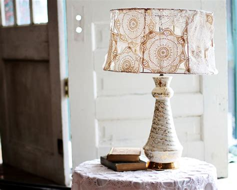 diy lshade projects doily covered l shade project a beautiful mess