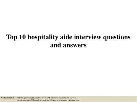 top 10 hotel manager questions and answers top