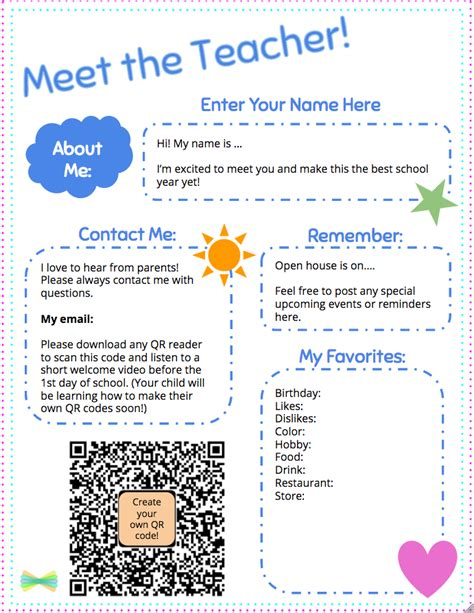meet the teacher template with seesaw welcome note ideas