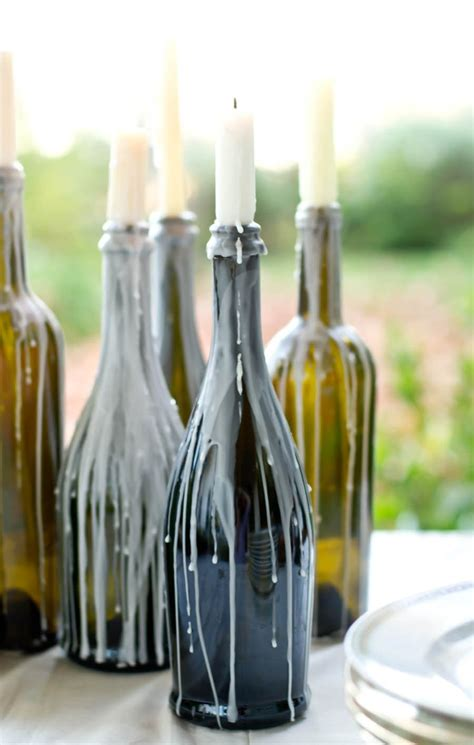 wine birthday candle 27 ideas on how to make wine bottle candle holders