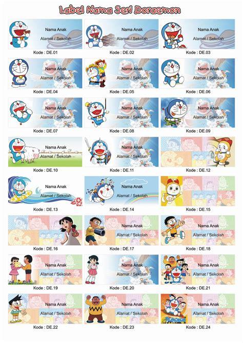 grosir label stiker nama anak seri boboi boy jual grosir label stiker nama anak seri doraemon