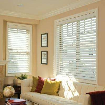 home decorators collection 2 inch faux wood blinds brown wood faux wood blinds blinds the home depot