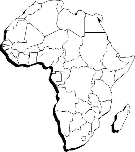 africa map for coloring 25 best ideas about africa continent on