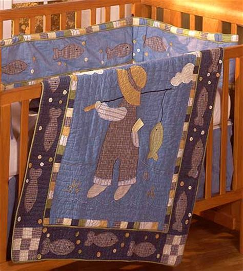 Fishing Crib Bedding Sets Fishing 4 Crib Quilt Set