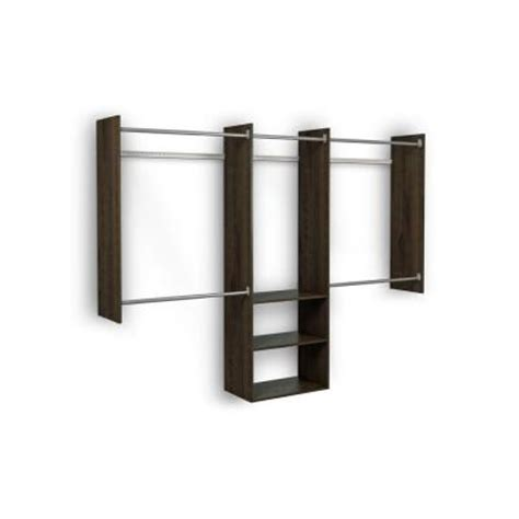 Martha Stewart Closet Organizer Home Depot by Martha Stewart Living 4 Ft 8 Ft Espresso Deluxe