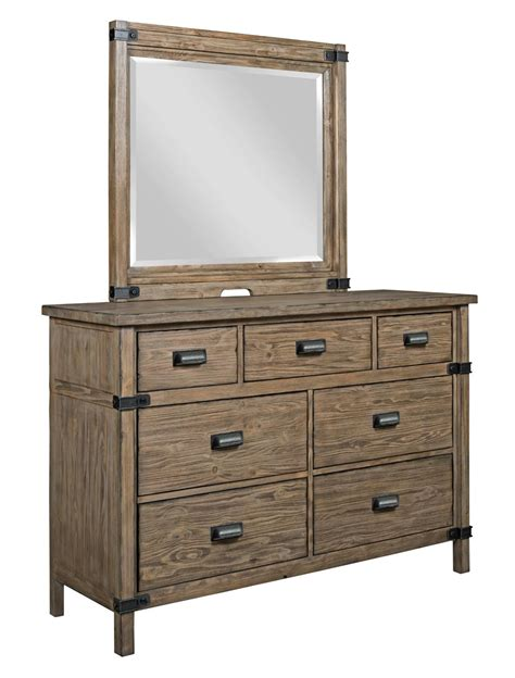 Mirror Brackets For Dresser by Furniture Foundry Rustic Bureau Mirror With