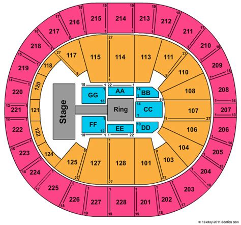 key arena floor plan key arena seating chart