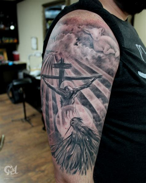 christian tattoo parlor texas jesus saves tattoo sleeve by capone tattoos