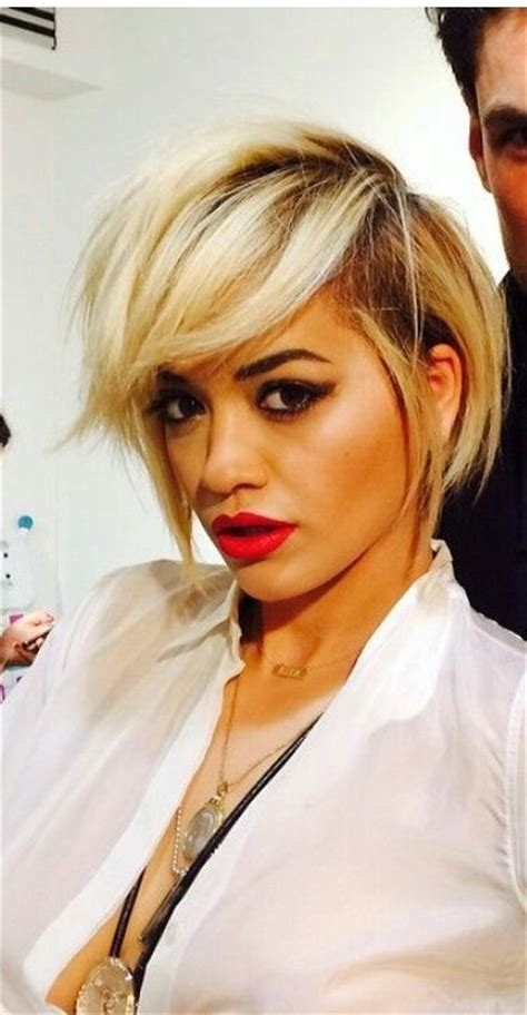 rita ora choppy hairstyles sexy woman crush and bobs on pinterest