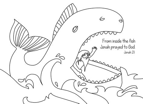 bible coloring pages fish jonah and the whale free bible coloring page from cullen s