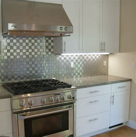 kitchens with stainless steel backsplash stylish stainless steel backsplash design bookmark 7101