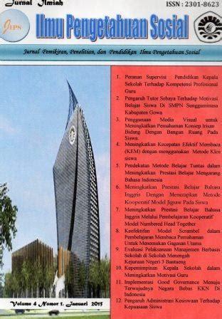 Jurnal Pemikiran Sosial Ekonomi jurnal ilmu pengetahuan sosial