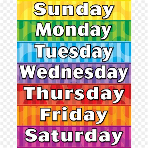 colorful names names of the days of the week learning lesson