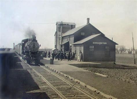 dorchester nebraska railroad depot early 1900s