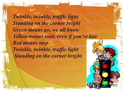 twinkle twinkle traffic light презентация на тему quot road safety what are we going to