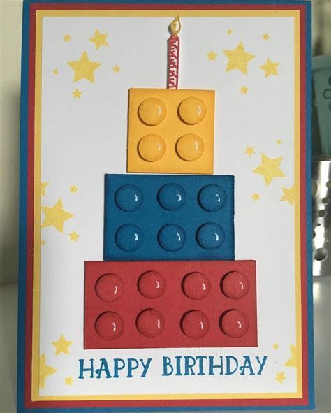 Childrens Handmade Cards - 25 b 228 sta lego card id 233 erna p 229