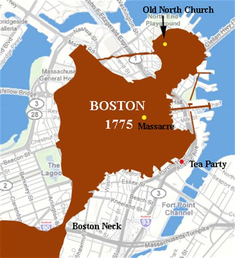 boston map 1775 now n then boston