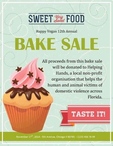 12 Bake Sale Flyer Templates Bake Sale Fundraiser Flyer Template