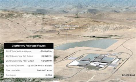 elon musk battery factory tesla unveils ultra efficient diamond shape for nevada