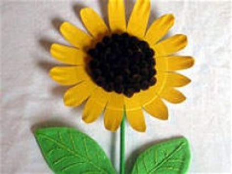 Sunflower Paper Plate Craft - paper plate sunflower family crafts