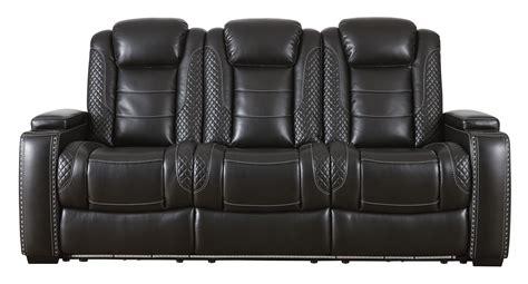 power reclining sofa  adjustable headrest  ashley
