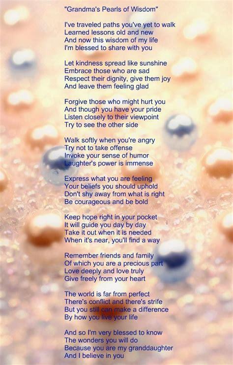 to my poem poem my grandmother gave me poems