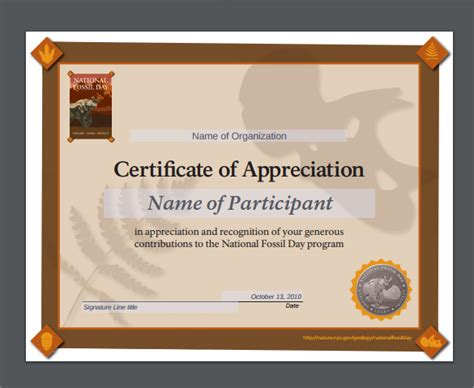 Appreciation Templates by Sle Certificate Of Appreciation Temaplate 12