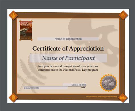 editable certificate of appreciation template certificate of appreciation editable templates www