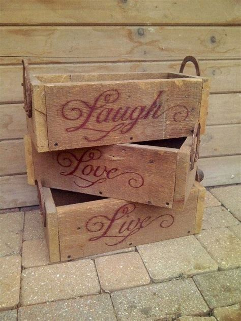 In A Box Live by Live Laugh Boxes By Secondchancebarnwood On Etsy 25