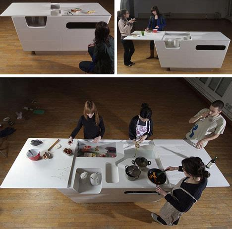 fold out furniture combined kitchen island work table