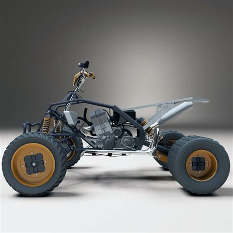 Ktm Fourwheeler 3d Realistic Atv Ktm 450
