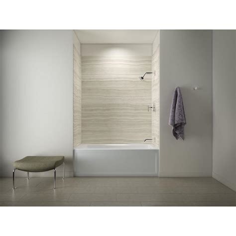 bathtub shower walls kohler archer 5 ft right drain tub with choreograph 72 in