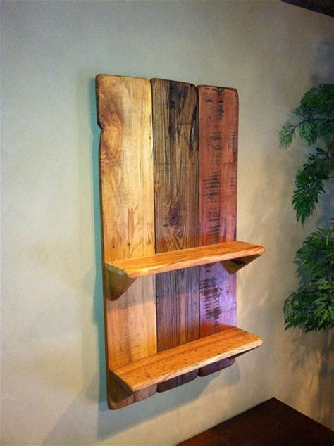 diy pallet wall hanging picture shelf 99 pallets