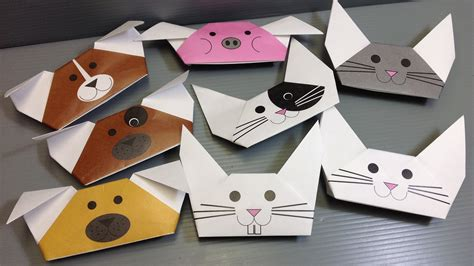 Animal Paper Folding - origami animal puppets print your own paper