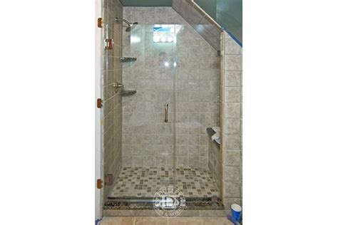 Glass Shower Door For Angled Ceiling Small Bathrooms Angled Glass Shower Doors