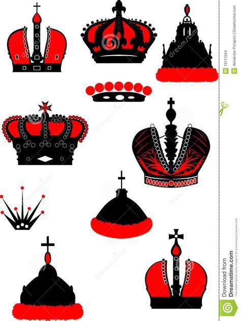 imagenes negras y rojas conjunto de coronas negras y rojas imagenes de archivo