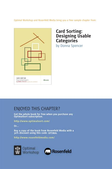 Card Sorting Designing Usable Categories