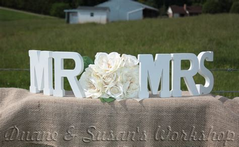 mr mrs wooden sign sweetheart table wedding diy option