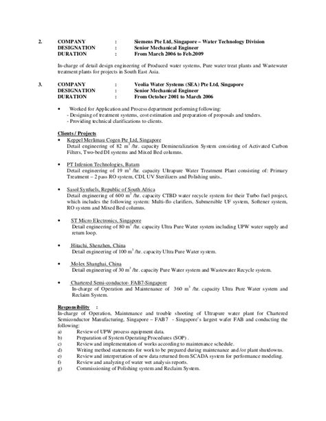 Water Purification Technician Sle Resume by Cv