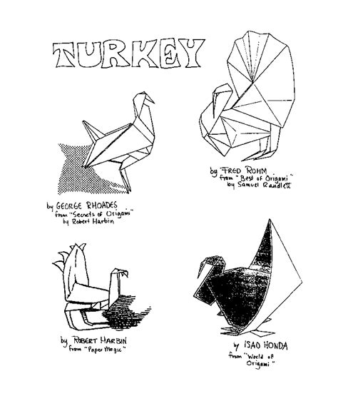 printable origami turkey instructions easy origami turkey tutorial origami handmade