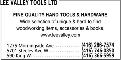 lee valley tools  scarborough   morningside