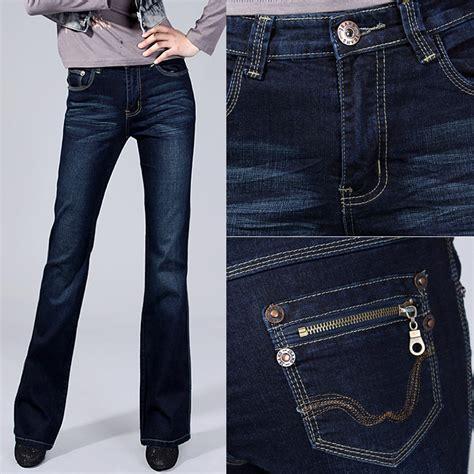 2015 bell bottom jeans 2015 elastic slim bell bottom high waist women s jeans